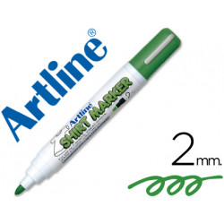 Rotulador artline camiseta ekt2 verde punta redonda 2 mm para uso en camis