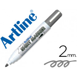 Rotulador artline camiseta ekt2 gris punta redonda 2 mm para uso en camise