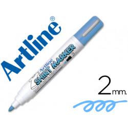 Rotulador artline camiseta ekt2 celeste punta redonda 2 mm para uso en cam