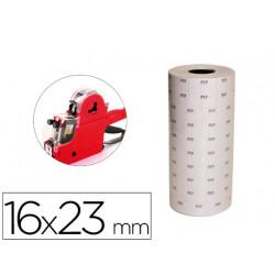 Etiquetas qconnect blanca 16 x 23 mm pvp rollo 700 etiquetas para etiqueta