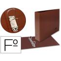 Carpeta de 2 anillas 25mm mixtas liderpapel folio apaisado carton cuero for