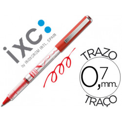 Rotulador roller inoxcrom free ink office campus rojo 07mm
