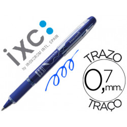 Rotulador roller inoxcrom free ink campus con grip azul 07 mm