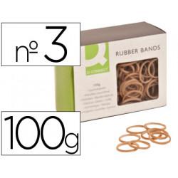 Gomillas elasticas qconnect 100 gr numero 3 30 x 2 mm