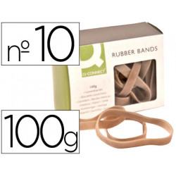 Bandas elasticas qconnect 100 gr 100x9 mm numero 10
