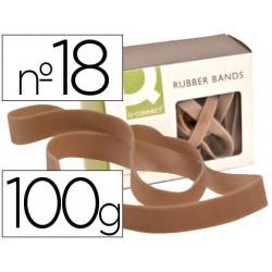 Bandas elasticas qconnect 100 gr 180 x 16 mm numero 18