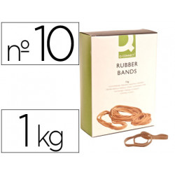Bandas elasticas qconnect 1000 gr 100 x 9 mm numero 10