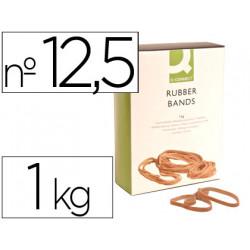 Bandas elasticas qconnect 1000 gr 125 x 9 mm numero 125