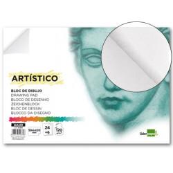 Bloc dibujo liderpapel artistico encolado 594x420mm 24+6 hojas 120g/m2 sin