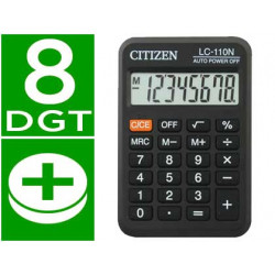 Calculadora citizen bolsillo lc110 8 digitos negra