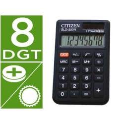 Calculadora citizen bolsillo sld200n 8 digitos