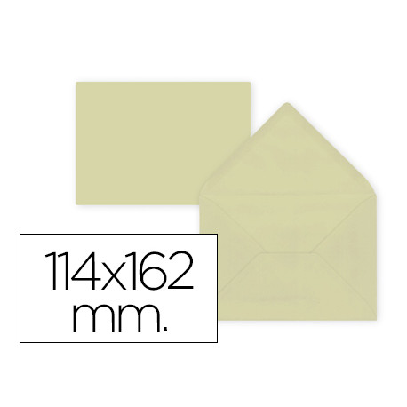 Sobre liderpapel c6 crema 114x162 mm 80gr pack de 15 unidades