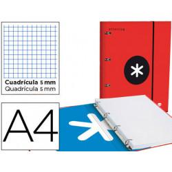 Carpeta con recambio y solapa liderpapel antartik a4 cuadro 5 mm forrada 4