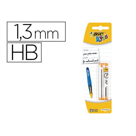 Minas bic kids bp twists grafito hb 13 mm blister de 2 tubos con 6 minas