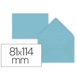 Sobre liderpapel c7 azul celeste 81x114 mm 80gr pack de 12 unidades