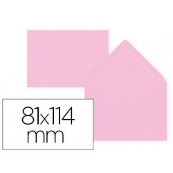 Sobre liderpapel c7 rosa palido 81x114 mm 80gr pack de 12 unidades