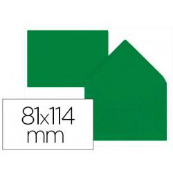 Sobre liderpapel c7 verde acebo 81x114 mm 80gr pack de 12 unidades