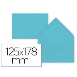 Sobre liderpapel b6 azul celeste 125x178 mm 80gr pack de 15 unidades