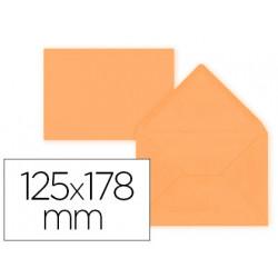 Sobre liderpapel b6 naranja 125x178 mm 80gr pack de 15 unidades