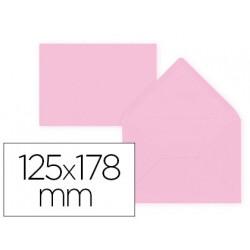 Sobre liderpapel b6 rosa palido 125x178 mm 80gr pack de 15 unidades