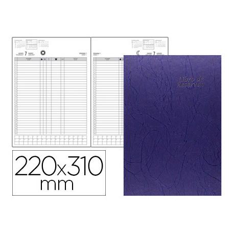 Libro de reservas ingraf 22x31 cm 2018 2 dias pagina papel ecologico 70 gr