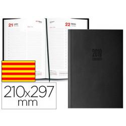 Agenda encuadernada ingraf amsterdam 21x297 cm 2018 dia pagina color negro