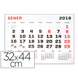 Calendario pared liderpapel 2018 32x44 cm papel 70 gr
