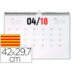 Calendario pared liderpapel 2018 42x297 cm papel 70gr texto en catalan