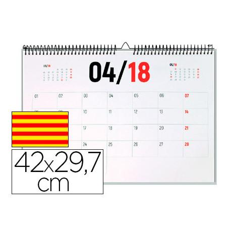 Calendario pared liderpapel 2018 42x297 cm papel 70gr texto en catalan