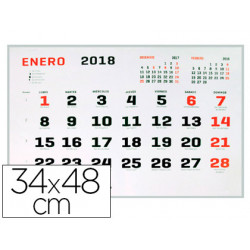 Calendario pared liderpapel 2018 34x48 cm papel 70 gr