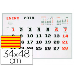 Calendario pared liderpapel 2018 34x48 cm papel 70 gr texto en catalan