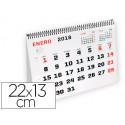 Calendario espiral triangular liderpapel 2018 22x13 cm papel 120 gr