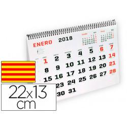 Calendario espiral triangular liderpapel 2018 22x13 cm papel 120 gr texto e
