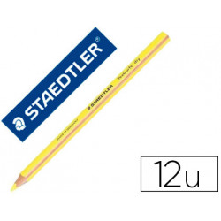 Lapices fluorescente staedtler triangular top star amarillo caja de 12 unid
