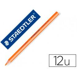 Lapices fluorescente staedtler triangular top star naranja caja de 12 unida