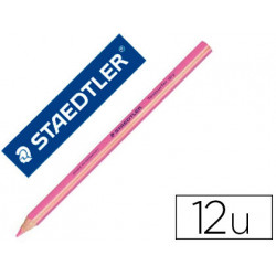 Lapices fluorescente staedtler triangular top star rosa caja de 12 unidades
