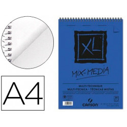 Bloc dibujo acuarela canson xl mix media grano medio din a4 microperforado