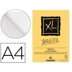 Bloc dibujo canson xl bristol din a4 extraliso encolado 21x297 cm 50 hojas