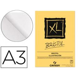 Bloc dibujo canson xl bristol din a3 extraliso encolado 297x42 cm 50 hojas
