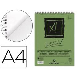 Bloc dibujo canson xl dessin din a4 liso microperforado espiral 21x297 cm