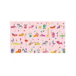Papel regalo arguval turnowsky animales rosa