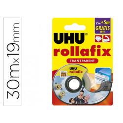 Miniportarrollo uhu rollafix minions cinta transparente 25 + 5 m x 19 mm