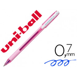 Boligrafo uniball roller jetstream sx101 07 mm rosa claro tinta gel azul