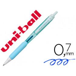 Boligrafo uniball jetstream retractil sxn101 07 mm azul cielo tinta azul