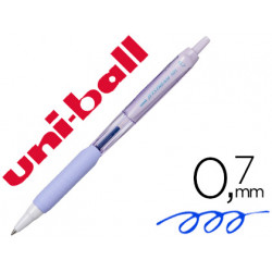 Boligrafo uniball jetstream retractil sxn101 07 mm lavanda tinta azul