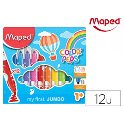 Rotulador maped color peps early age jumbo caja de 12 colores