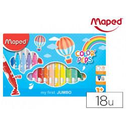 Rotulador maped color peps early age jumbo caja de 18 colores
