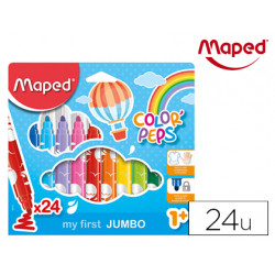 Rotulador maped color peps early age jumbo caja de 24 colores