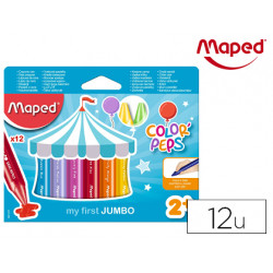 Lapices de cera maped color peps jumbo caja de 12 colores