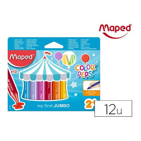 Lapices de cera maped color peps jumbo caja de 12 colores